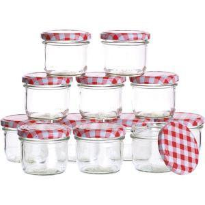 124ml zaváraninové poháre, zaváranie rovné so skrutkovacím viečkom-káry, 6ks, aj na huby, nakladané syry, Gastro